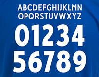 RC Deportivo Coruña custom typeface 14/15