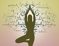 Branding and Illustration   Yoga teacher