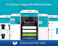 Free E-Commerce App for Material Design