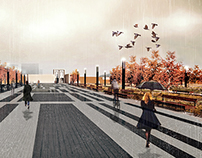 Design of Etele Square, visualization design - autumn