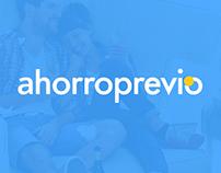 AhorroPrevio: Branding & web design