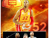 Basketball sports memory mate photography template