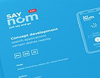 "Mobile app concept ""SayNom"""
