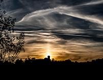 Autumnal Equinox sunset, September 2017