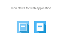 Icon News for web-application