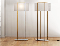 Free 3d model / Dauphine Floor Lamp by CB2