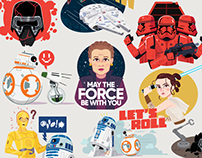 Star Wars: Rise of Skywalker Samsung Galaxy Stickers