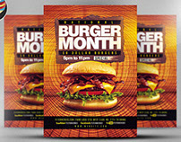 Burger Month Flyer Template