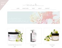 Shop Webpage For Meraki Skincare