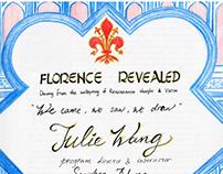 Florence travel sketchbook note