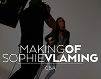 Sophie Vlaming Shooting for Clockhouse, Making of.