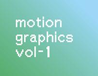 Motion Graphics Exercises vol-1