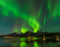 Northern Lights Time-lapse Lyngen Alps