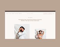 Rhye Intimates Underwear Subscription Squarespace Site