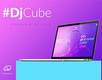 DJCube | Musician Theme Site Concept 2017