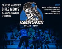 Lisbon Grrrls Roller Derby Posters