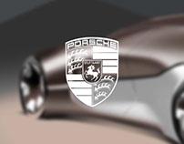 Luxury Porsche sedan