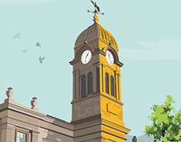 Derby Guildhall Theatre (UK) Vector Illustration