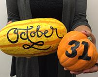 "Halloween ""gourd typography"""
