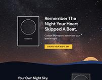 TheNightSky.com - Concept Homepage