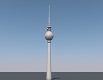 "Berlin TV Tower ""Berliner Fernsehturm"" OLD WIP"