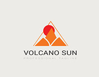 Volcano Sun Free Template