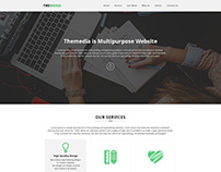 THEMEDIA - One Page PSD Template for creative agency