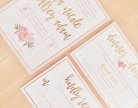 Romantic Gold Foil Wedding Invites