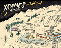 2015 XGAMES Site Map Illustrations