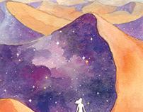"""From The Desert"" book cover art"