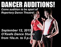 Dancer audition flyer