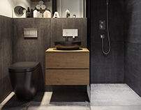 Black & Gray Bathroom Design
