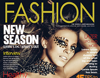 Free Fashion Magazine Cover PSD Template