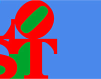 Robert Indiana Digital Billboard Tribute