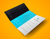 Freebie - Z Fold Brochure PSD Mockup