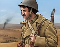 International Brigades - Historical illustration