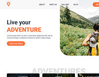 Adventures Homepage UI - Free PSD