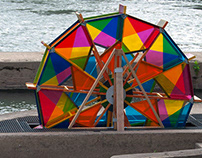 Color Mobile | Kinetic Art Installation Site-specific