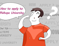 How to apply to Maltepe University. Animation