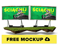 Free Billboard Mockup 6x3 for download
