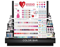 Essie Displays in CVS, Walgreens: Mechanicals & Renders