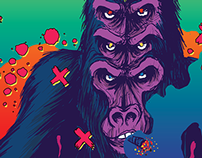 Gorilla Madness ~ Illustration