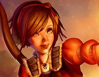 Leah Diablo III Fanart Commission