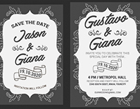 Grey Wedding Invitation Suit Template 5