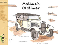 Malbuch Oldtimer / Colouring Book Classic Cars