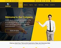 FOREX BUSINESS LANDING WEBSITE