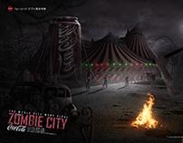 [CocaCola惊魂丧尸游乐园]电商合成海报学员作品