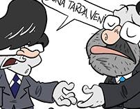 Vinyeta sobre la reunión entre Rajoy y Puigdemont