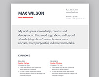 Resume template for Google Docs | Edit online!