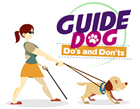 Guide dog for the blind Infographics